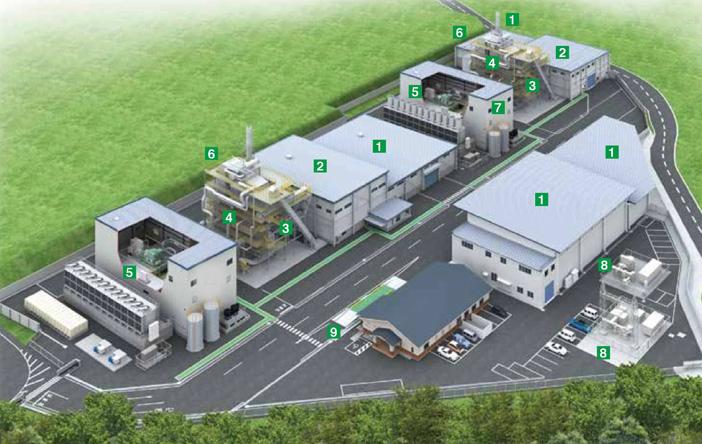 荒尾バイオマス発電所全体図イメージ